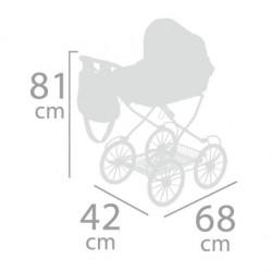Carro de Muñecas Classic Romantic Plegable De Cuevas Toys 81032 | De Cuevas Toys