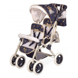 Carro de Muñecas Silla Gemelar Plegable Top Collection De Cuevas Toys 90332