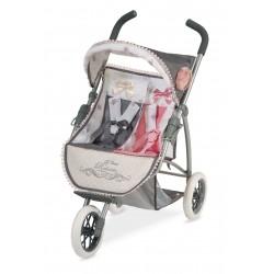 Carro de Muñecas Plegable Gemelar Reborn De Cuevas Toys 90331