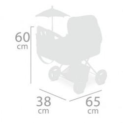 Coche de Muñecas Plegable con Sombrilla Martina DeCuevas Toys 85033 | DeCuevas Toys